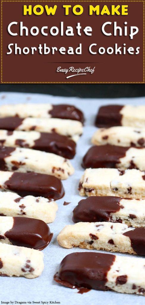 Chocolate Chip Shortbread Cookies
