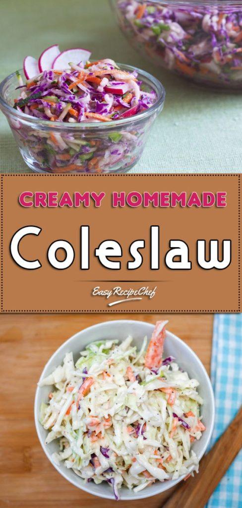 Creamy Homemade Coleslaw Recipe