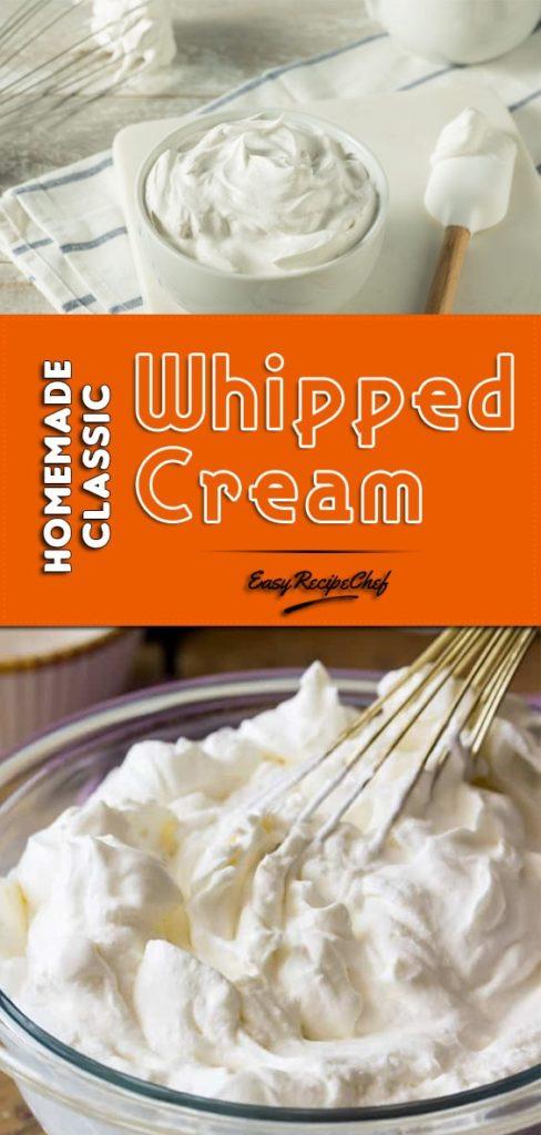 Homemade Classic Whipped Cream