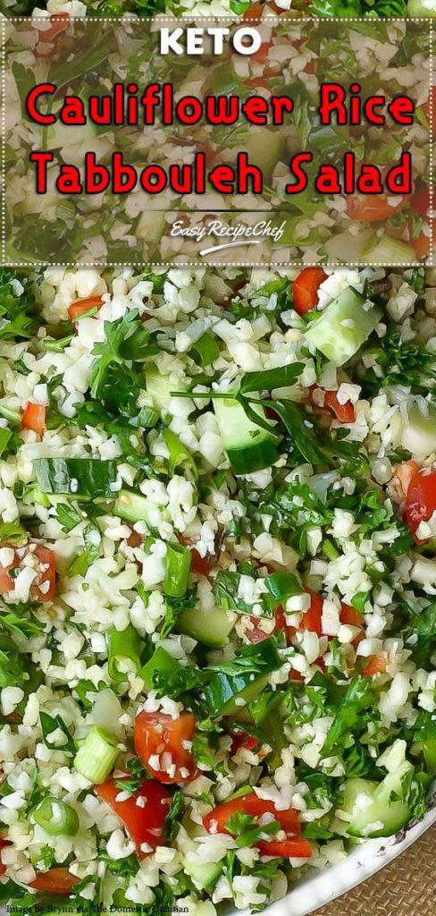 Keto Cauliflower Rice Tabbouleh Salad