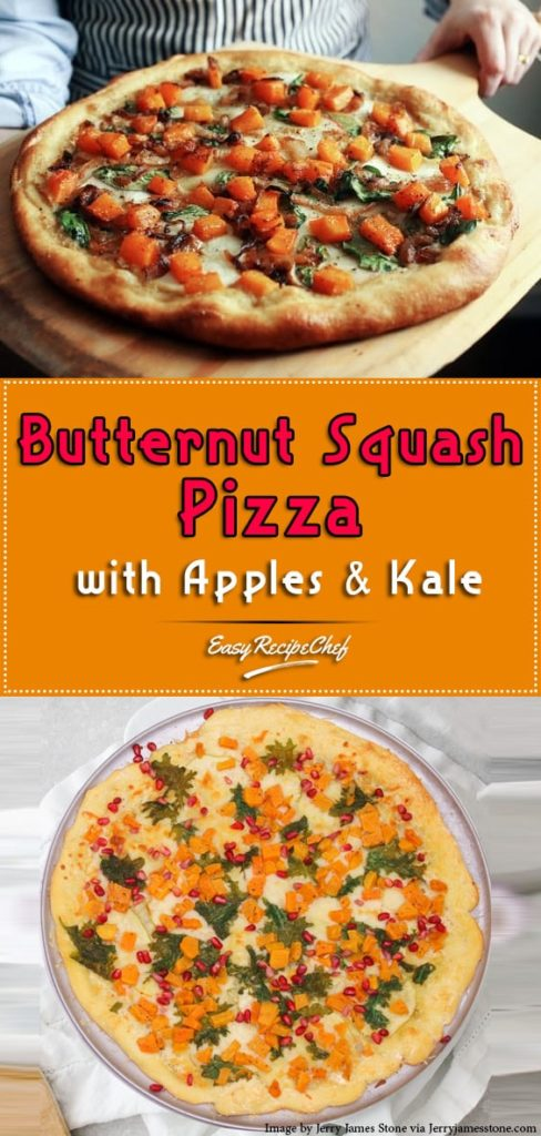 How To Make Butternut Squash Pizza with Apples & Kale