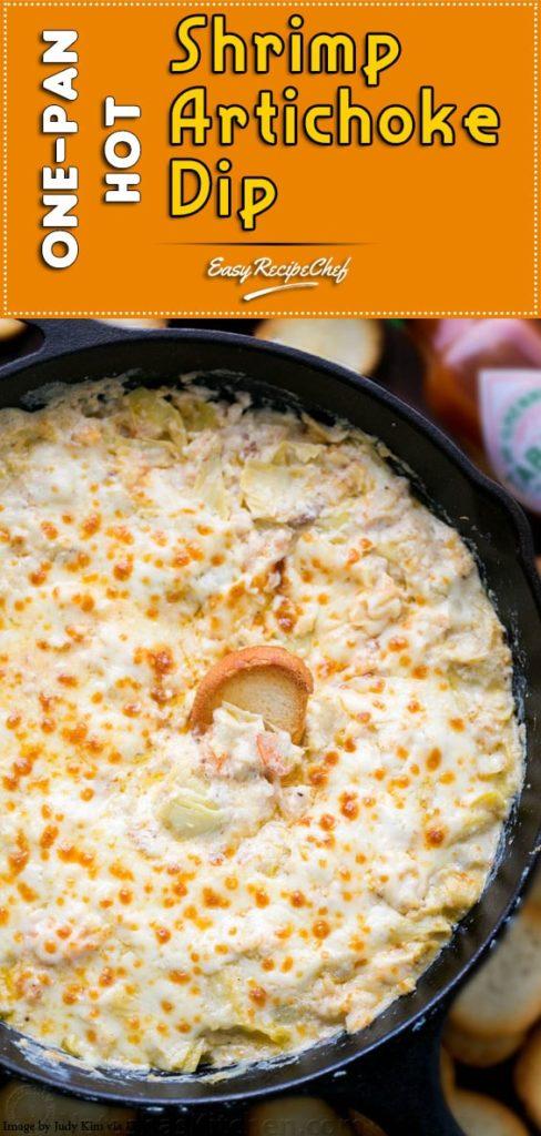 How To Make One-pan hot shrimp artichoke dip