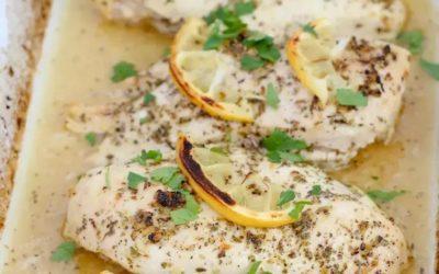 Creamy Lemon Herb Baked Chicken Breast