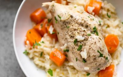 Golden Instant Pot Chicken and Rice