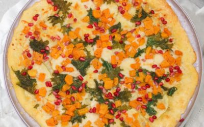 Butternut Squash Pizza with Apples & Kale