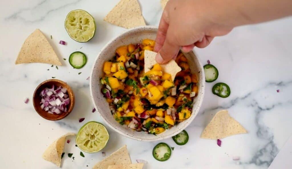 Super Easy Spicy Mango Salsa